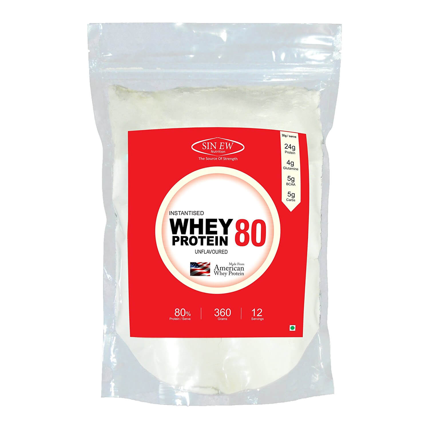 Buy Sinew Nutrition Instantised Whey Protein Concentrate 80% Raw & Unflavoured Online in India - Sinew Nutrition