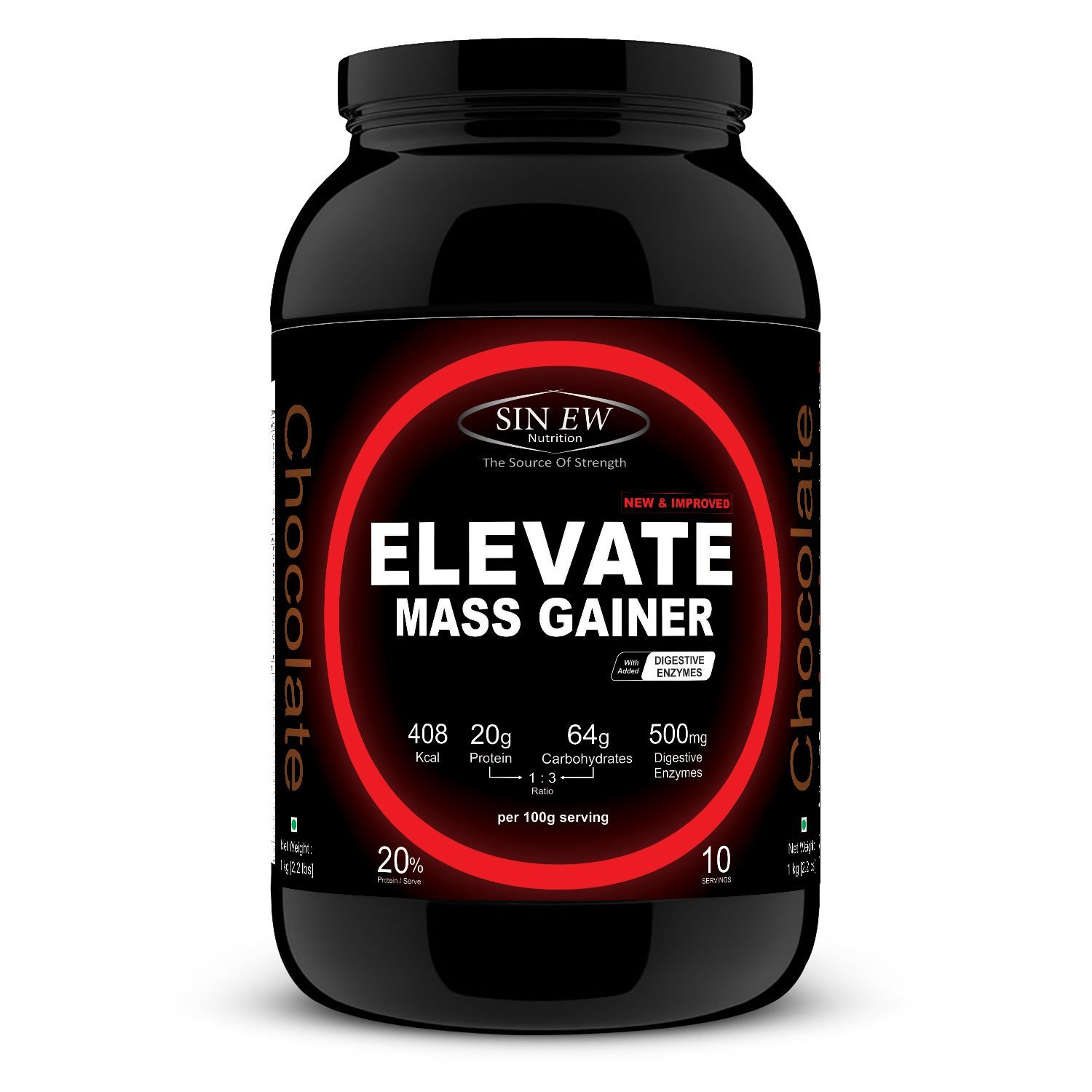 buy sinew nutrition elevate mass gainer 1 kg 2 2 lbs chocolate flavor online in india. Black Bedroom Furniture Sets. Home Design Ideas