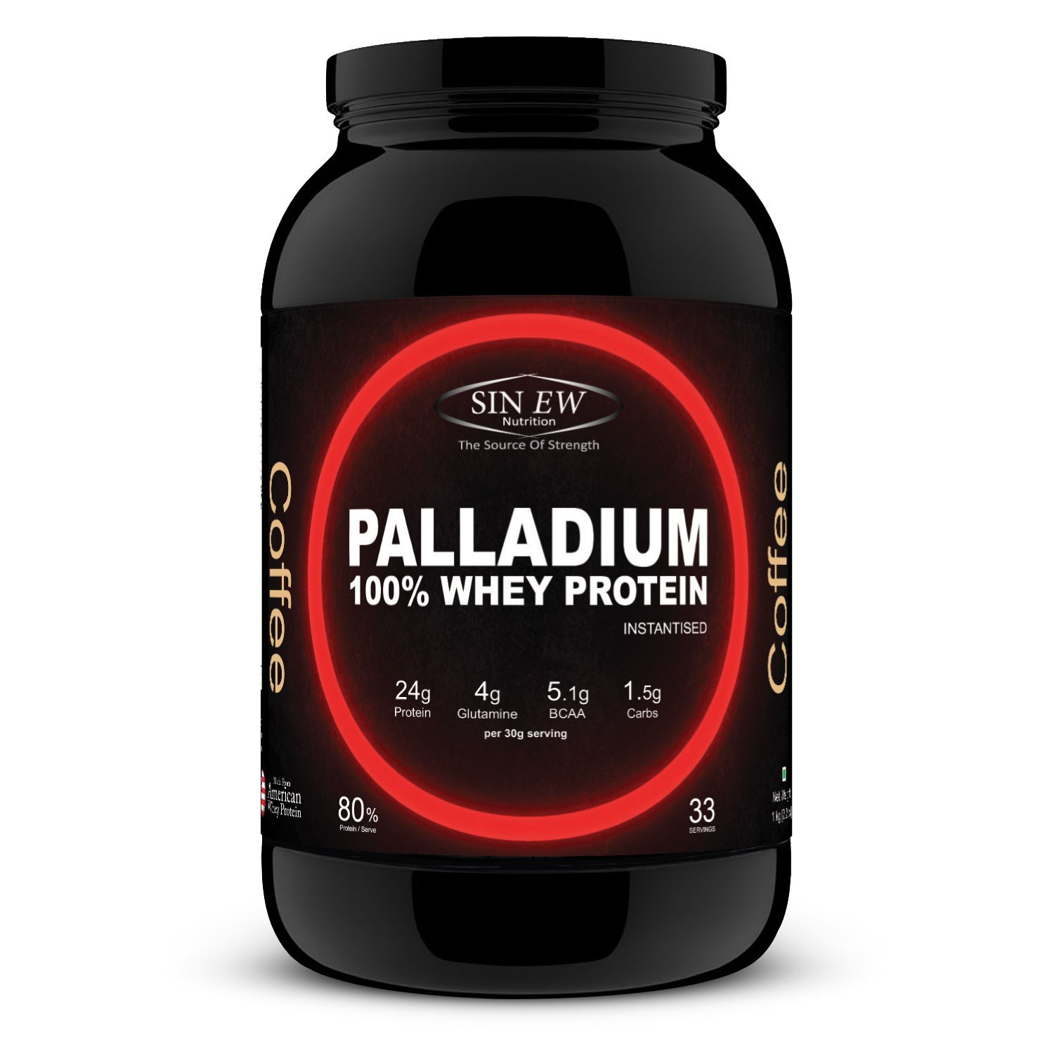 Buy Sinew Nutrition Palladium 100% Whey Protein Concentrate Powder 1 Kg / 2.2 Lbs (33 Servings ...