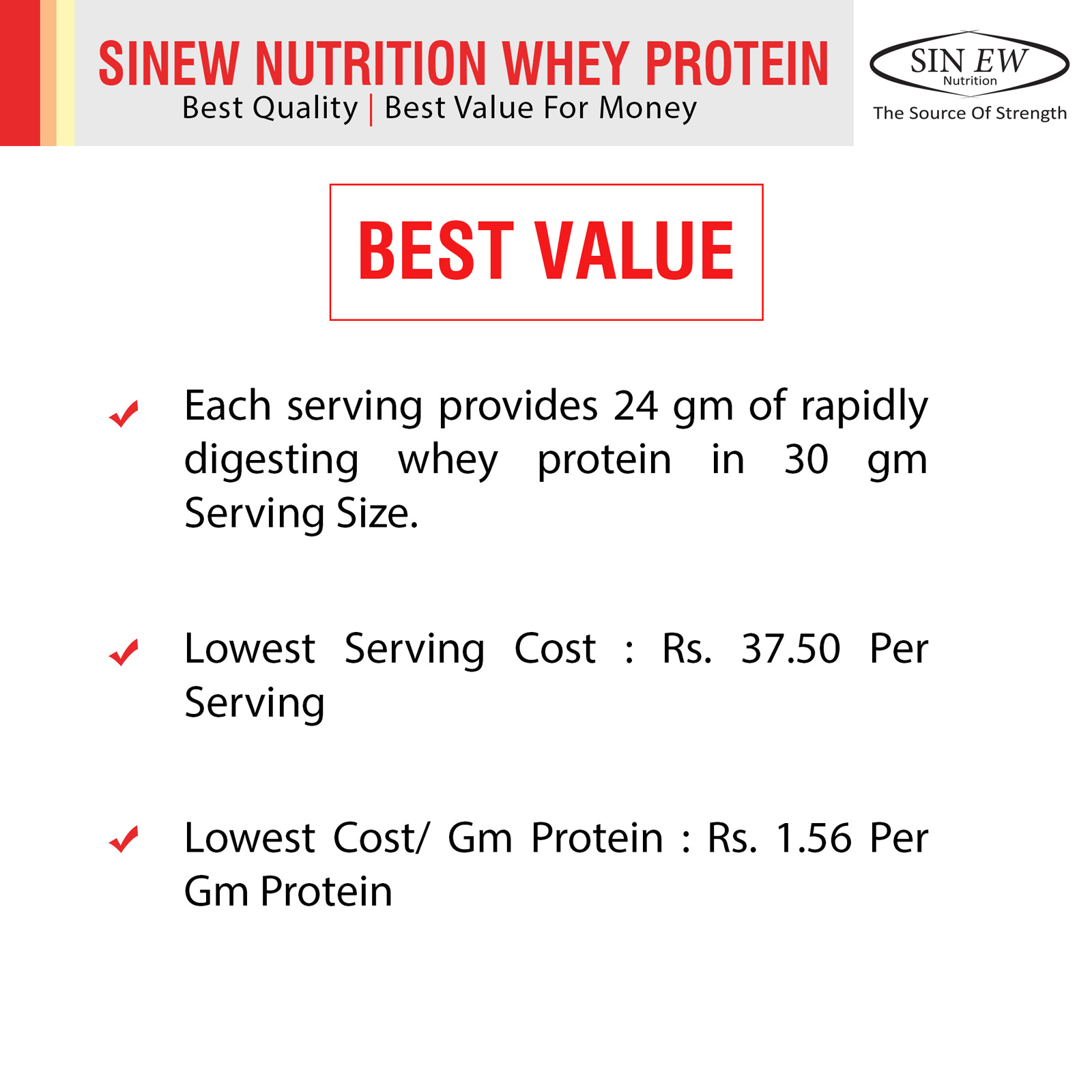 Whey Protein Best Value