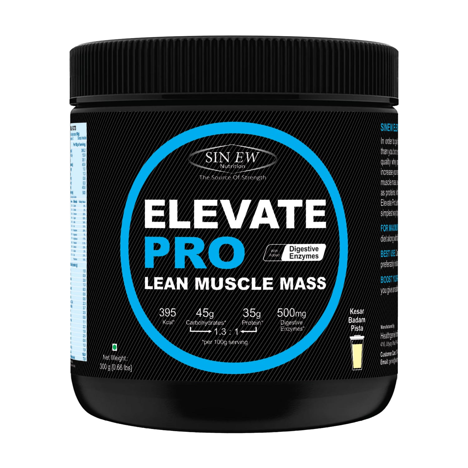 Elevate Pro Lean Muscle Mass (kbp) 300g F