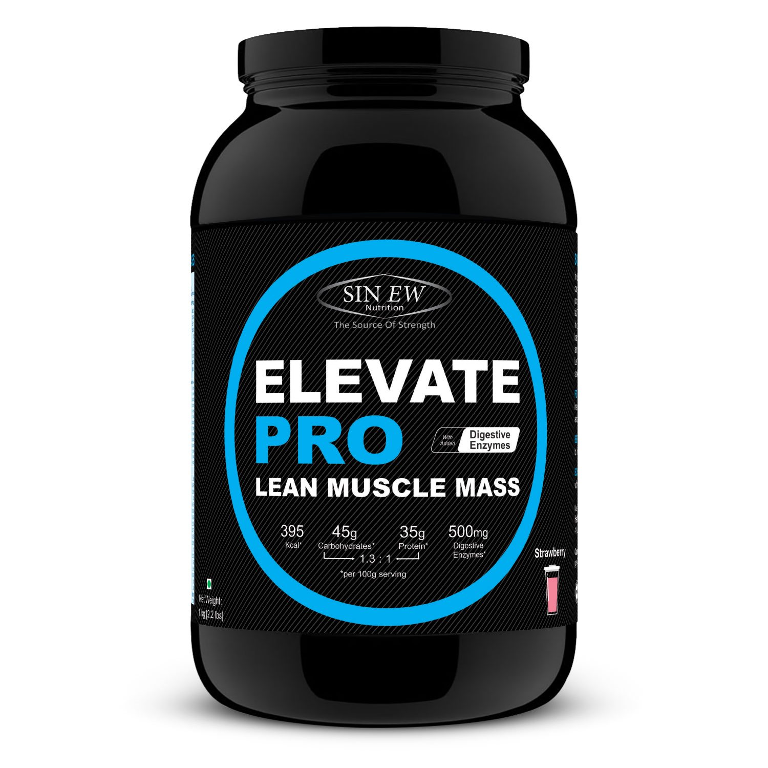 Elevate Pro Lean Muscle Mass (strawberry) 1kg F