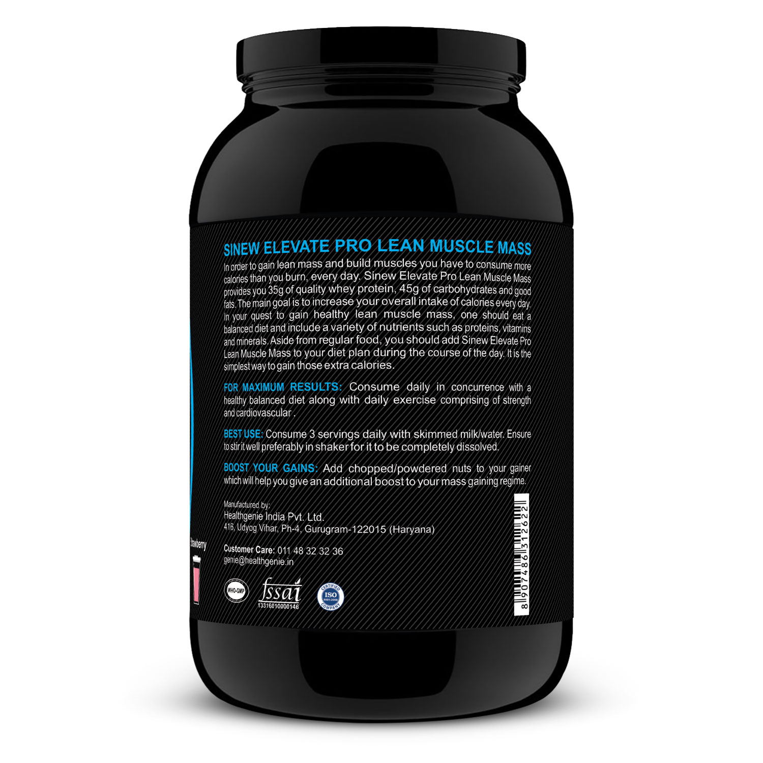 Elevate Pro Lean Muscle Mass (strawberry) 1kg R
