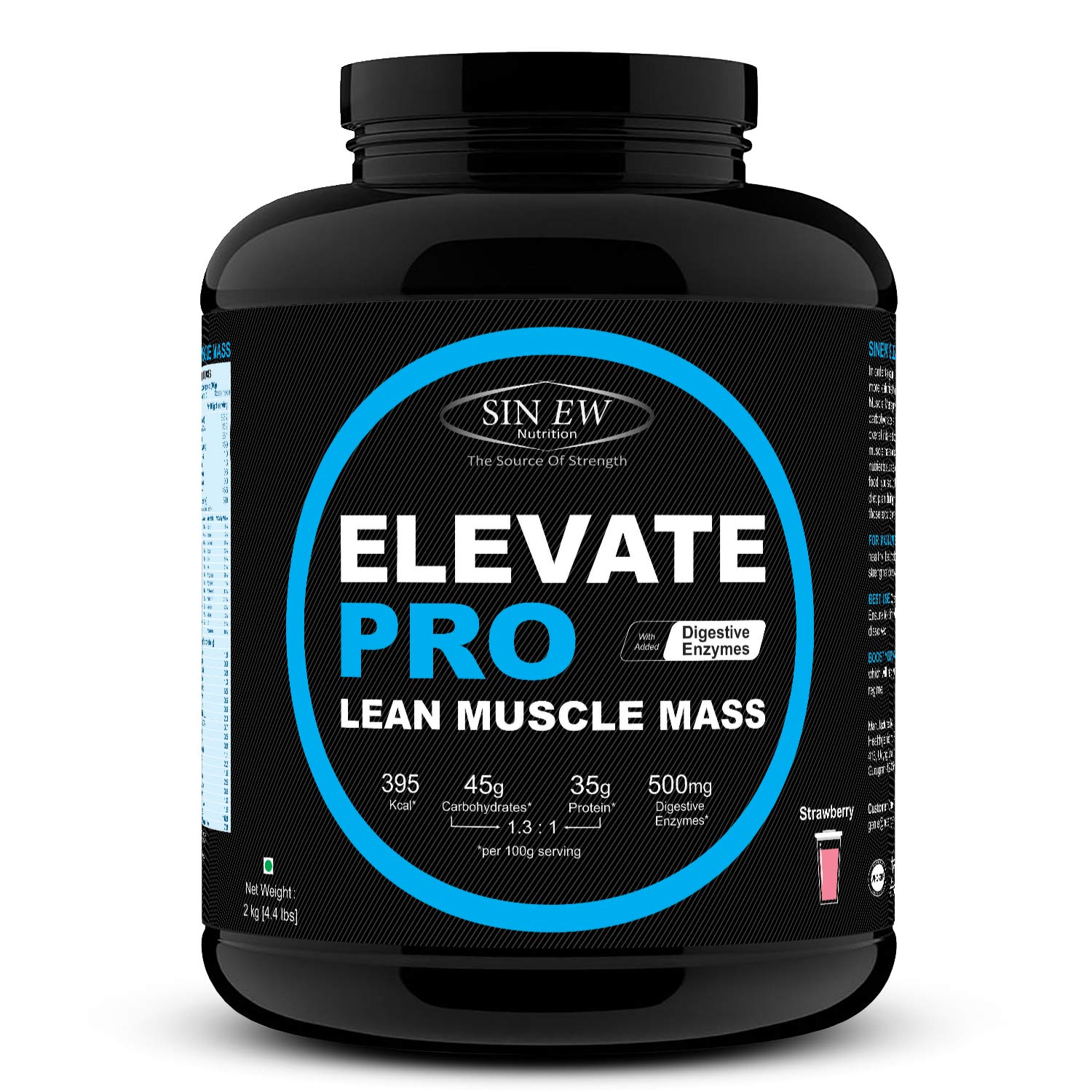 Elevate Pro Lean Muscle Mass (strawberry) 2kg F