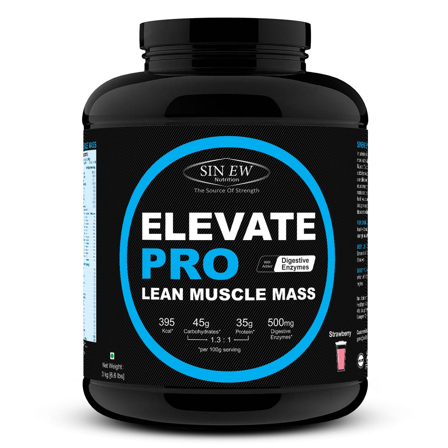 Elevate Pro Lean Muscle Mass (strawberry) 3kg F