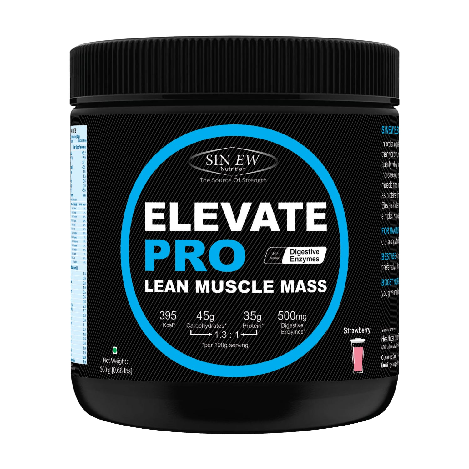 Elevate Pro Lean Muscle Mass (strawberry)300g F