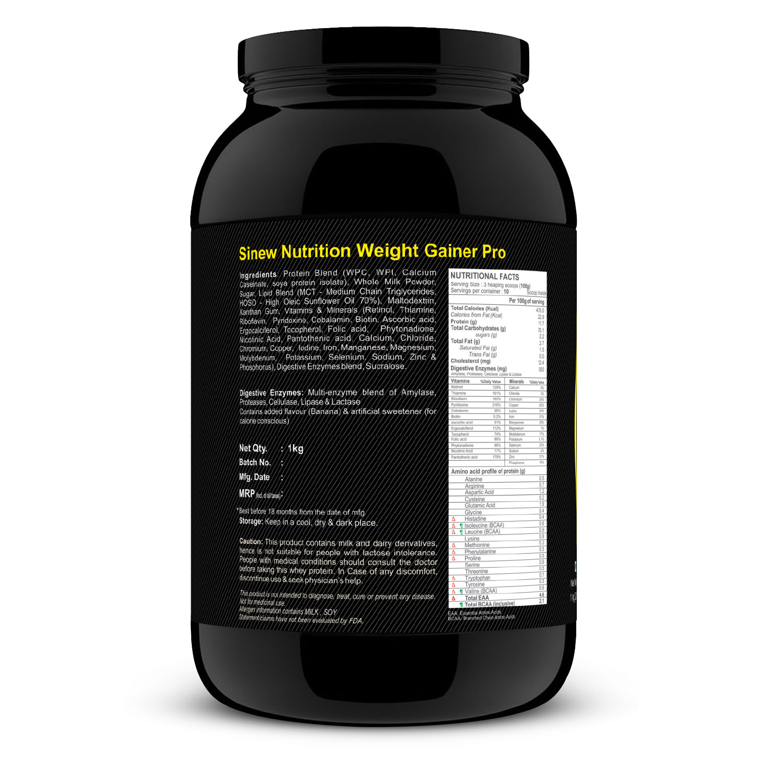 Weight Gainer Pro (banana) 1 L