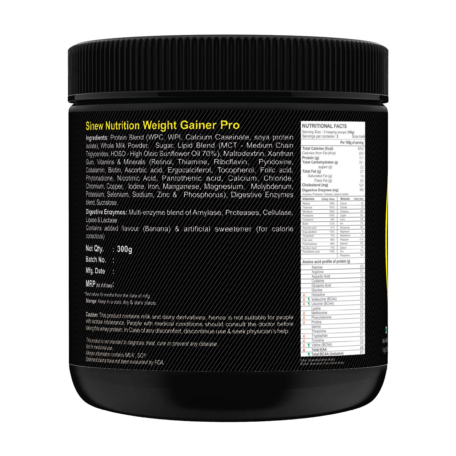 Weight Gainer Pro (banana) 300 L