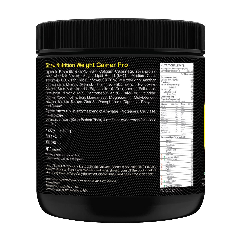 Weight Gainer Pro (kesar Pista Badam) 300 L