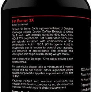 Sinew Nutrition Natural Fat Burner 3x 90 Cap 2